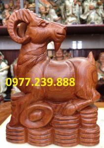 tượng dê gỗ hương việt