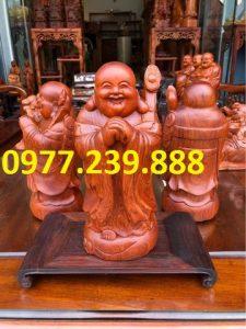 tượng di lặc chúc phúc bằng gỗ hương nam phi