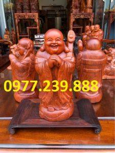 tượng di lặc chúc phúc bằng gỗ hương việt
