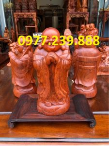 tượng di lặc chúc phúc gỗ hương