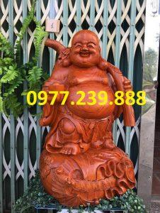 tượng di lặc gánh cành đào hương cao 30cm