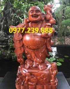 tượng di lặc vách cành đào gỗ hương việt