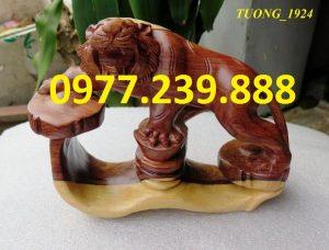 tượng hổ bằng gỗ trắc dây giá gốc