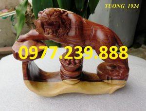 tượng hổ gỗ trắc dây 20cm