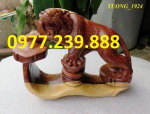 tượng hổ gỗ trắc dây