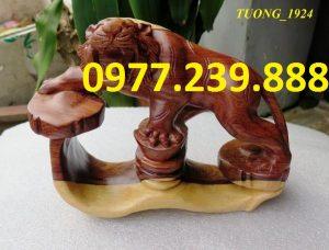tượng hổ gỗ trắc dây giá rẻ