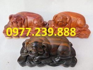 tượng heo gỗ hương 20cm
