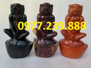 tượng khỉ gỗ hương đá
