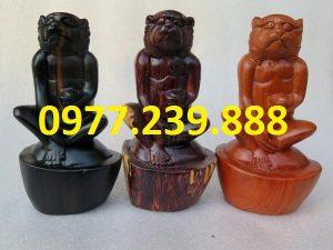 tượng khỉ gỗ hương đỏ