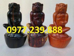 tượng khỉ gỗ hương