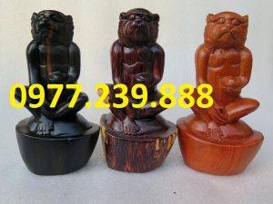tượng khỉ gỗ hương giá rẻ