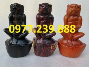 tượng khỉ gỗ hương gia lai