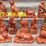 tượng lợn bằng gỗ hương lào