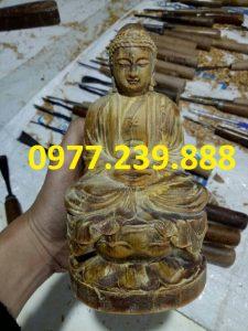 tượng phật ông adida bằng gỗ bách xanh 20cm