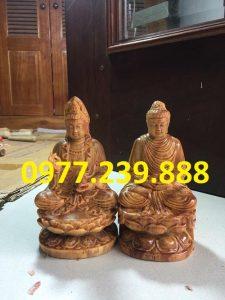 tượng phật ông adida bằng gỗ huyết long 20cm