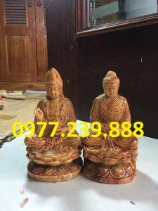 tượng phật ông adida bằng gỗ huyết long 50cm