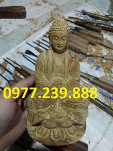 tượng phật ông adida gỗ bách xanh 20cm