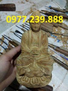 tượng phật ông adida gỗ bách xanh 30cm