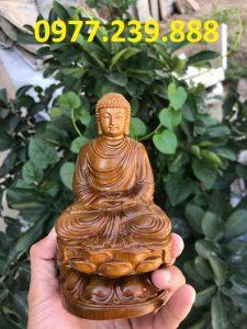 tượng phật ông thích ca gỗ bách xanh 40cm