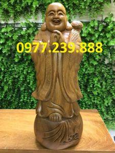 tượng phật chúc phúc bằng gỗ bách xanh 30cm