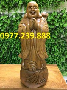 tượng phật chúc phúc bằng gỗ bách xanh 40cm