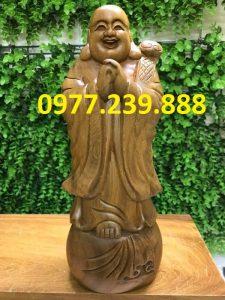tượng phật chúc phúc bằng gỗ bách xanh 50cm