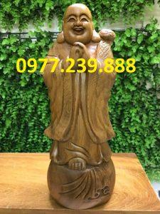 tượng phật chúc phúc bằng gỗ bách xanh 60cm