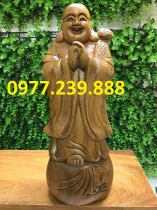 tượng phật chúc phúc bằng gỗ bách xanh 70cm