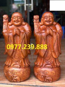 tượng phật chúc phúc bằng gỗ hương