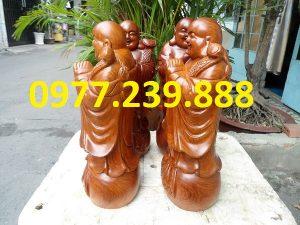 tượng phật chúc phúc bằng gỗ hương cao 30cm