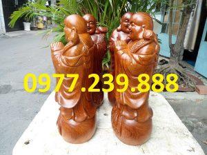 tượng phật chúc phúc bằng gỗ hương cao 40cm