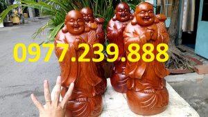 tượng phật chúc phúc bằng gỗ hương cao 50cm