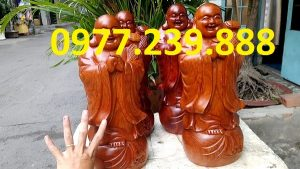 tượng phật chúc phúc bằng gỗ hương lào