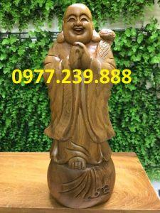 tượng phật chúc phúc gỗ bách xanh 30cm