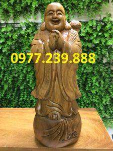 tượng phật chúc phúc gỗ bách xanh 40cm