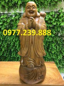 tượng phật chúc phúc gỗ bách xanh 50cm