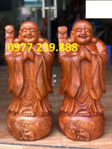 tượng phật chúc phúc gỗ hương đá