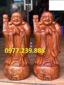 tượng phật chúc phúc gỗ hương đỏ