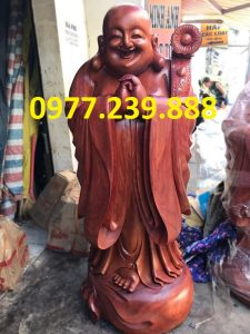 tượng phật chúc phúc gỗ hương 30cm