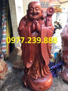 tượng phật chúc phúc gỗ hương 40cm