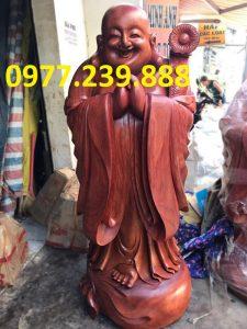 tượng phật chúc phúc gỗ hương 60cm