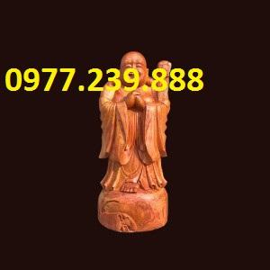 tượng phật chúc phúc gỗ hương cao 30cm