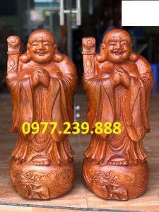 tượng phật chúc phúc gỗ hương cao 40cm