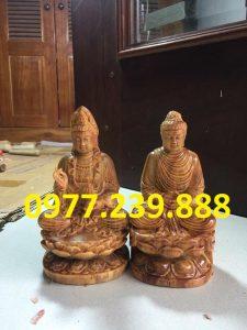 tượng phật di lặc bằng gỗ huyết long 15cm