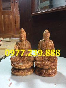 tượng phật di lặc bằng gỗ huyết long 30cm