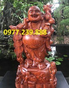 tượng phật di lặc gánh cành đào hương cao 30cm