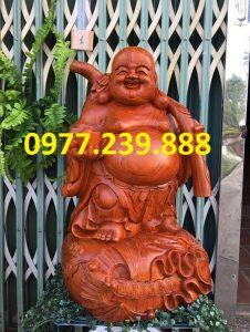 tượng phật di lặc gánh cành đào hương cao 40cm
