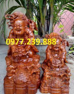 tượng phật di lặc nhị phúc dâng tiền gỗ hương nhập