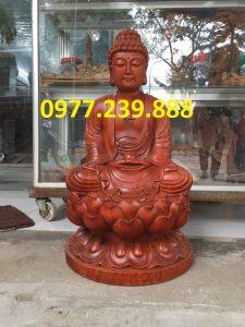 tượng phật thích ca bằng gỗ hương 15cm