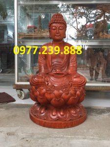 tượng phật thích ca bằng gỗ hương 20cm